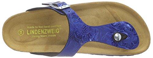 Lindenzweig Damen 55-39410 Pantoletten Blau (Blau)