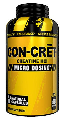 Promera Health Con Cret HCI Micro Dosing Natural Capsules For Muscle Building, Endurance and recovery, 750 Mg, 48 Count
