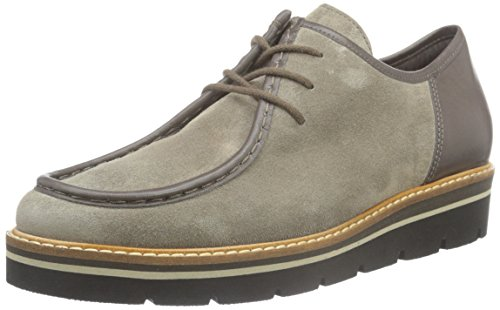 Gabor Shoes Fashion, Zapatos de Cordones Oxford para Mujer Gris (Wallaby/vulcano 13)