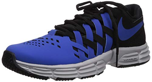 Nike Men's Lunar Fingertrap Trainer Cross, Black/Game Royal - Atmosphere Grey, 12.5 Regular US