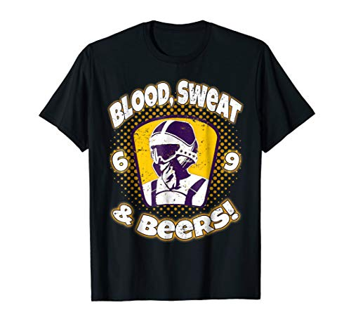 Blood Sweat Beers Funny Shirt 2 Stroke Motocross Legend -