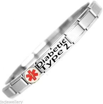 Make Emergency servies Aware UK STOCK DIABETIC Medical BRACELET