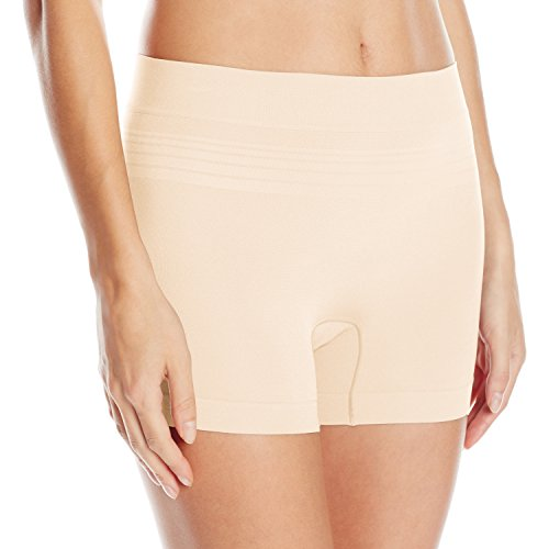 Warner's Women's No Pinching No Problems Seamless Boyshort Panty, Sandshell, L