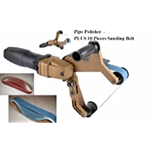 Pipe and Tube Polisher Sander Grinder 10 Pieces Zirconia Sanding Belt for Polishing Stainless Steel