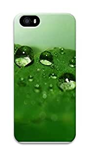 iPhone 5 5S Case Green drops of water 3D Custom iPhone 5 5S Case Cover