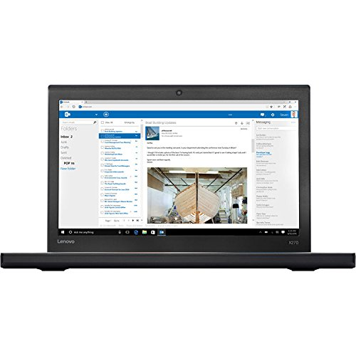 2017 Newest Lenovo ThinkPad X270 12.5 Inch Anti-Glare FHD IPS (1920x1080) Premium Flagship Laptop (Intel Core i7-7500U 2.7GHz, 8GB DDR4 RAM, 500GB SDD, Intel HD Graphics 620, WiFi, Windows 10) Black by UpgradePro