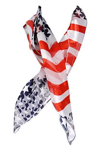 Satin Scarf Hair Neckerchief Wraps Music Note Gifts Flag Bandana Silk Feel Square Neck Scarves