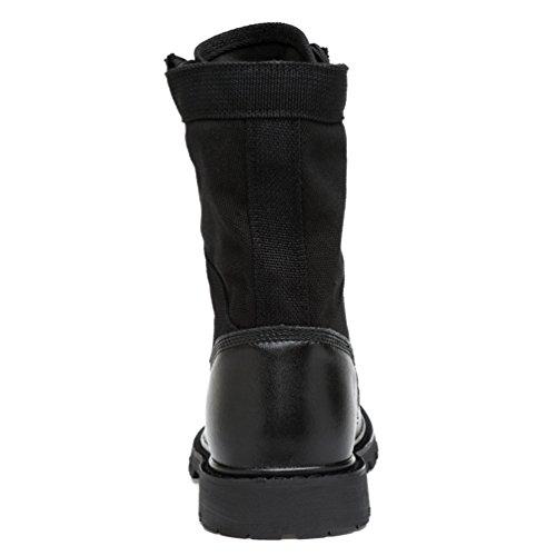 Jitong Herren Einsatzstiefel Schnürstiefel Outdoor Tactical Boots Komfortabel Stiefelette Winterschuhe Schwarz