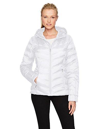 da donna Spyder con Bianco cappuccio giacca 100 SnqwZZfxvB
