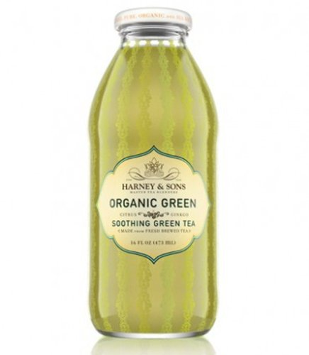 Harney & Sons Iced Tea, Organic Green, 16 Ounce (Pack of 12) -
