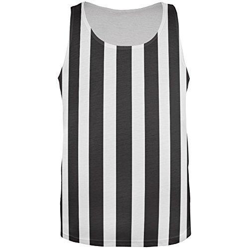 Old Glory Halloween Referee All Over Adult Tank Top - -