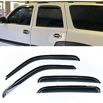 For Suzuki XL-7 2001-2006 Window Visor Sun Guard Outside Mount Dark Grey 4pcs