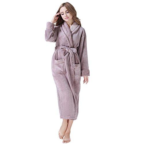 Richie house womens plush soft warm fleece bathrobe robe rh1591 sciox Image collections