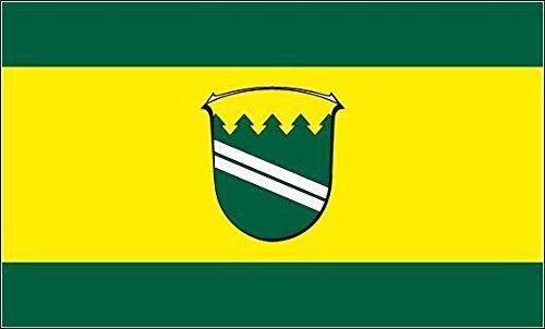 U24 Fahne Flagge Kirchheim (Hessen) Stiefelflagge Premiumqualität 120 x 180 cm