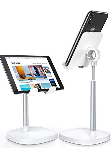 Cell Phone Stand,Angle Height Adjustable Stable LISEN Cell Phone Stand for Desk,Sturdy Aluminum Metal Phone Holder…