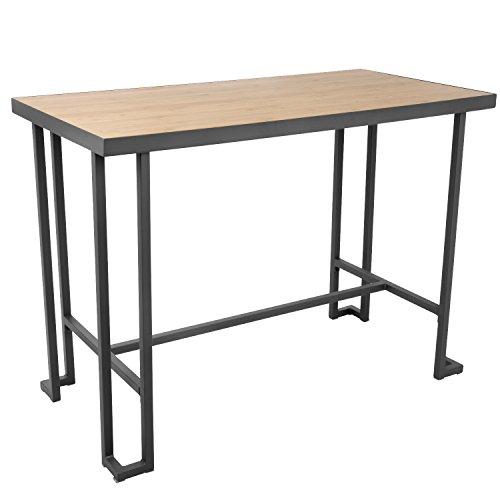 (WOYBR CT-RMN GY+NA Metal, Bamboo Roman Counter Table )