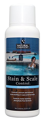 NC Brands Stain and Scale Control for Hot Tubs & Spas 33.9 OZ - Natural Chemistry 04222 ()