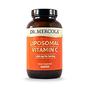 Dr. Mercola Liposomal Vitamin C 1,000mg per Serving – 180 Capsules – 90 Servings – Antioxidant…