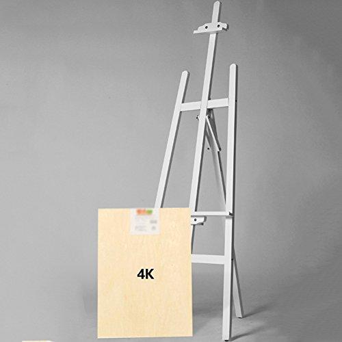 イーゼル 木製イーゼル白スケッチ描画スケッチブック広告KTボードディスプレイスタンド (色 : Easel+4K Sketchpad)