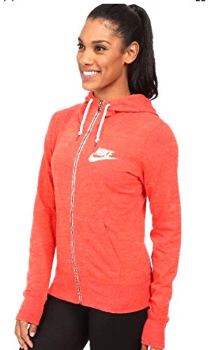 Women's Nike Gym Vintage Full Zip Hoodie 813872 696 Light Crimson/sail Size Medium