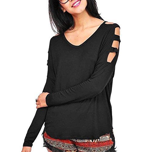 Moresave - Camisas - Túnica - Manga Larga - para mujer negro