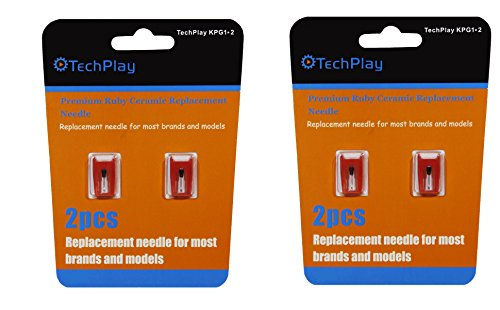 TechPlay pack of 2, Roby ceramic needle for Turntables