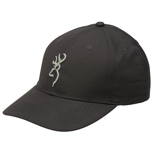3d Logo Hat (Browning Tex-Lite Hat Ball Cap w/ 3D Buckmark Logo (Charcoal) )