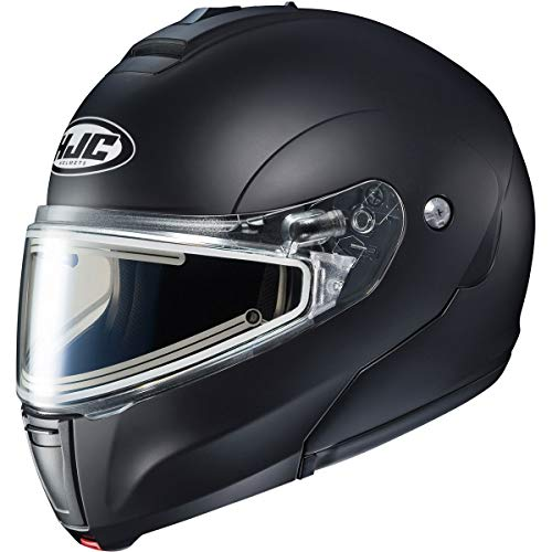 - HJC CL-Max 3 Men's Snowmobile Helmet With Electric Shield - Semi-Flat Black/Large