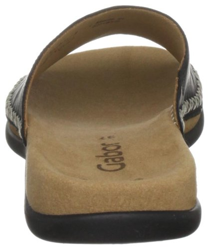 Gabor Shoes Gabor 4370521 - Zuecos de cuero para mujer Negro