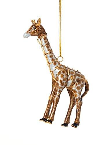 Christmas Ornaments, 2 Piece Set Cloisonne Aticulate Giraffe Ornament Christmas Giraffe Ornament