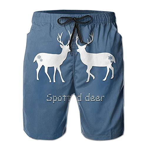 Pants For Deer Shorts Men Custom Boys Beach Spotted Casual Summer 6Swqq0