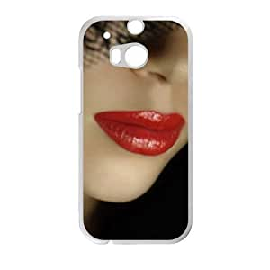 Attractive Red Lips HTC ONE M8 Case Customize Parttern Design - Hard Plastic Cover Case Protection for plastic HTC ONE M8 Case