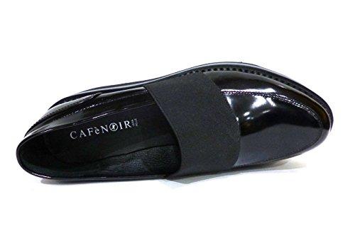 CAFèNOIR Cafè Noir CAF Noir EF132 Schwarz Mokassin Schuhe Frau Plattform Elastische Haut Nero