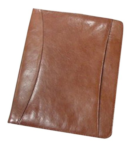 Superdeals Store Bellino Cowhide Leather Zip Around Pad Organizer