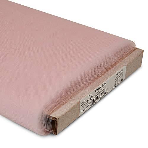 Expo International 54-Inch Classic Nylon Tulle Fabric, 25-Yard Bolt, Light Pink