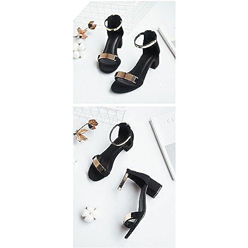 2eead0d2ee4 Sandales à talons ouverts à 5 cm talons hauts à talons hauts en métal à  talons