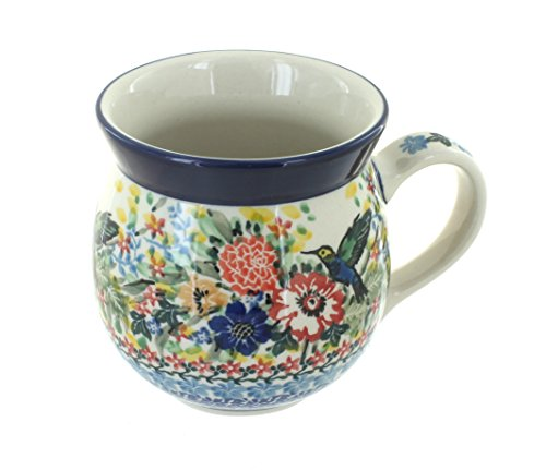 Polish Pottery Hummingbird Bubble Mug (Ceramika Polish Stoneware Artystyczna)