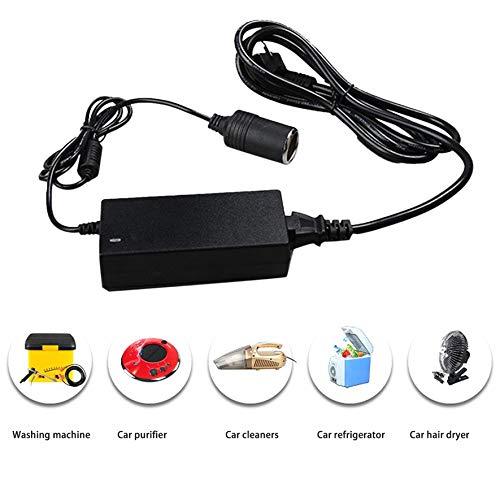 Negro RoadRoma AC 220V a 12V Adaptador de Corriente Enchufe para el hogar con Cable de Tierra de protecci/ón