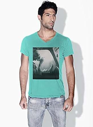 Creo Cigarette Skulls T-Shirts For Men - L, Green