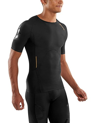 Skins Men's A400 Compression Short Sleeve Top, Oblique, X-Small by Skins (Image #4)