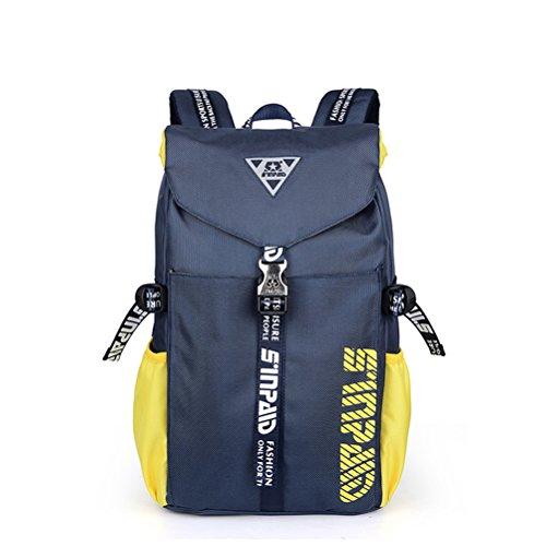 aiqi exterior Mujer Hombre/Teen Girls Boys Women y chica mochila bolso de escuela bolsa de viaje Senderismo Escalada Camping Mochila azul