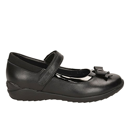 Clarks Ting-Fieber Girls Infant School Schuh in schwarzem Leder oder Patent Black Leather