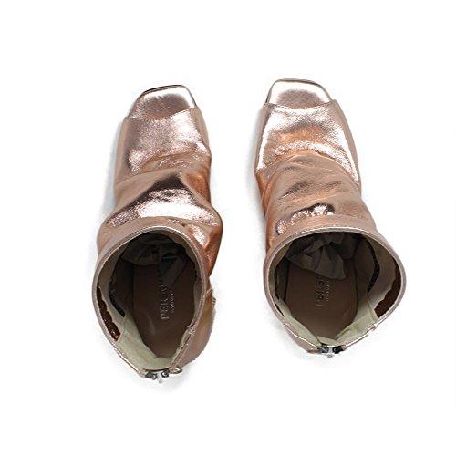 Con 0409 Vera Personal Made Cipria Metallizzato Spuntati Laminato Shoepper Italy In Tronchetti Open Pelle Toe Piramidale Tacco Alto PqvgXqwxB