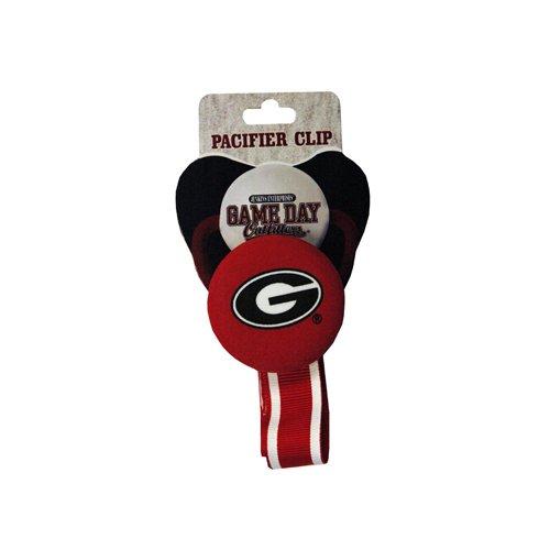 NCAA Georgia Bulldogs infantil Chupete clip, talla única), multicolor
