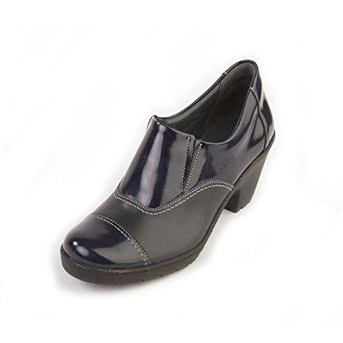 40 Zapatos azul mujer Suave para EU talla color cordones de 81FOR