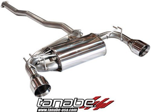 Tanabe T70139 Medalion Touring Cat-Back Dual Tip Exhaust System for Mitsubishi Lancer EVO10 2008-2009
