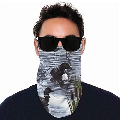 フェイスカバー Uvカット ネックガード 冷感 夏用 日焼け防止 飛沫防止 耳かけタイプ レディース メンズ Loons Duck