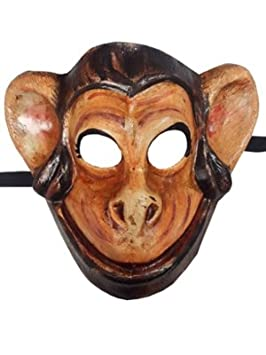 Deluxe diseño de mono diseño de mono cara completa veneciano máscara de carnaval de animales de