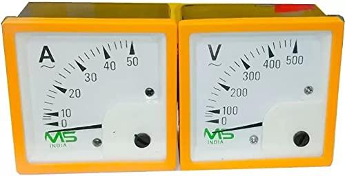 M S control pack of 2 72 MM AC 500 VOLT METER Voltmeter…