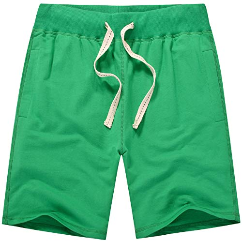 (Amy Coulee Men's Casual Classic Boys Sweatpant Short (2XL, Sea Green))